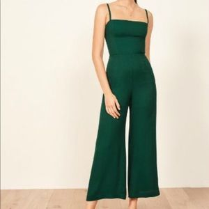 Green ankle length jumpsuit
